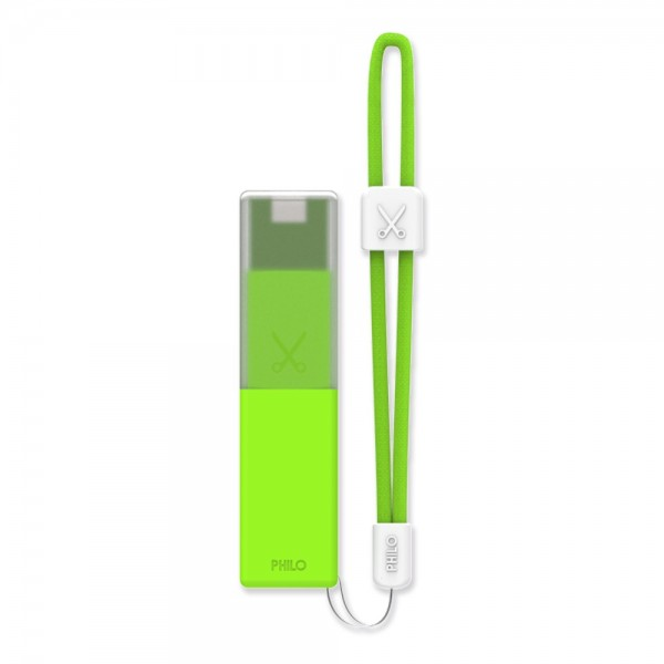 Philo - Caricabatteria Portatile per Telefoni Cellulari Portatile ad Alta Capacità - Verde - Batterie Portatili - 2600 mAh