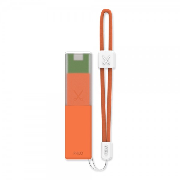 Philo - High Capacity Portable Power Bank Mobile Phone Charger - Orange - Portable Batteries - 2600 mAh