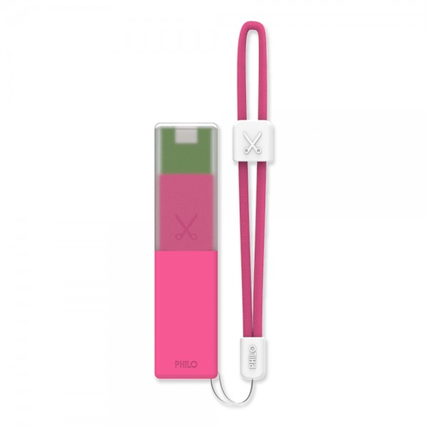 Philo - High Capacity Portable Power Bank Mobile Phone Charger - Pink - Portable Batteries - 2600 mAh