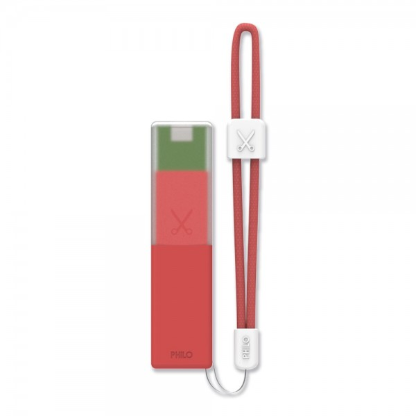 Philo - High Capacity Portable Power Bank Mobile Phone Charger - Red - Portable Batteries - 2600 mAh
