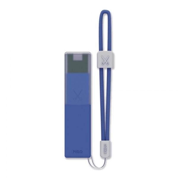 Philo - Caricabatteria Portatile per Telefoni Cellulari Portatile ad Alta Capacità - Blu - Batterie Portatili - 2600 mAh