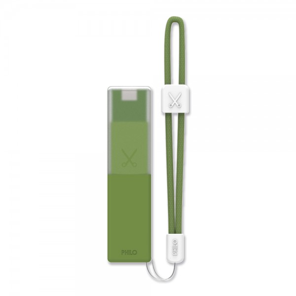 Philo - High Capacity Portable Power Bank Mobile Phone Charger - Military Green - Portable Batteries - 2600 mAh