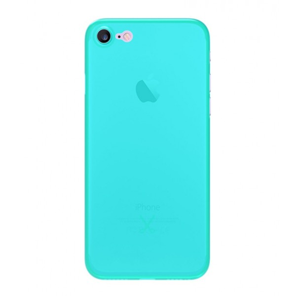 Philo - Cover Ultra Slim 0.3 - Cover PP Ultra Sottile (3 mm) e Super Leggera - Cover Effetto Traslucido - Azzurro - iPhone 8 / 7