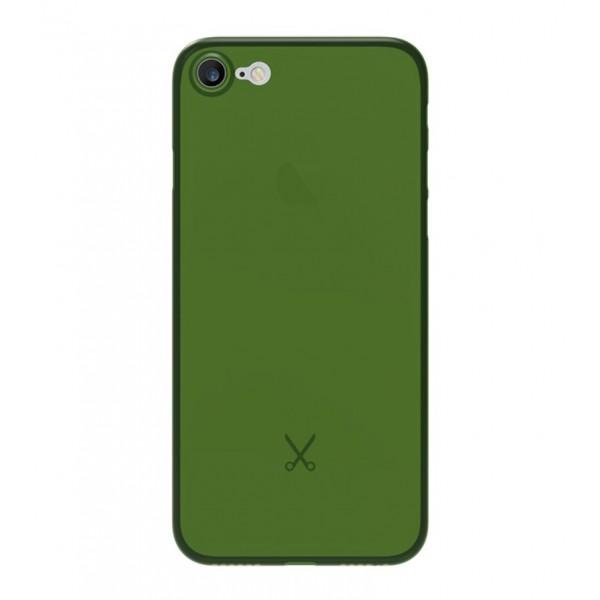 Philo - Cover Ultra Slim 0.3 - PP Ultra Sottile (3 mm) Super Leggera - Cover Effetto Traslucido - Verde Militare - iPhone 8 / 7