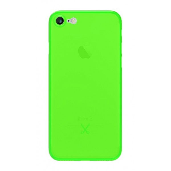 Philo - Cover Ultra Slim 0.3 - Cover PP Ultra Sottile (3 mm) e Super Leggera - Cover Effetto Traslucido - Verde - iPhone 8 / 7