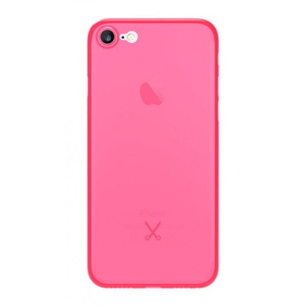 Philo - Cover Ultra Slim 0.3 - Cover PP Ultra Sottile (3 mm) e Super Leggera - Cover Effetto Traslucido - Rosa - iPhone 8 / 7