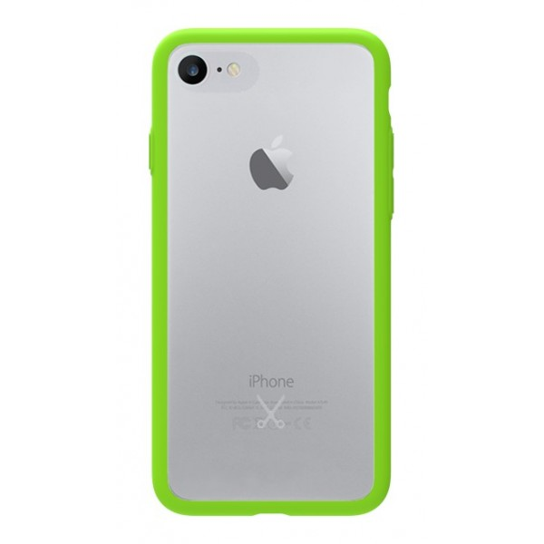 Philo - Cover Protettiva in Gomma Supersottile Antiscivolo per iPhone - Cover Slimbumper - Bumper Cover - Verde - iPhone 8 / 7