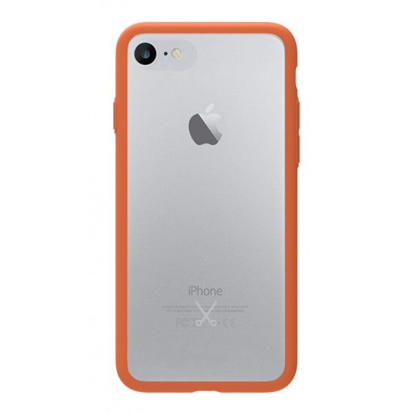 Philo - Cover Protettiva in Gomma Supersottile Antiscivolo iPhone - Cover Slimbumper - Bumper Cover - Arancione - iPhone 8 / 7