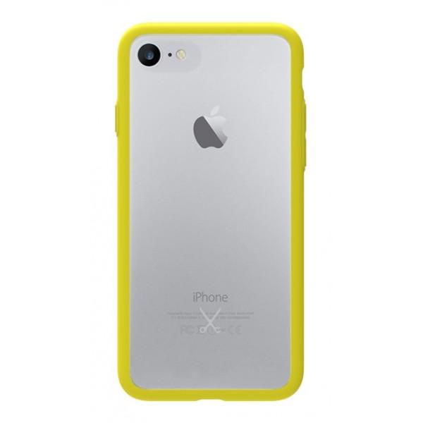 Philo - Cover Protettiva in Gomma Supersottile Antiscivolo per iPhone - Cover Slimbumper - Bumper Cover - Gialla - iPhone 8 / 7