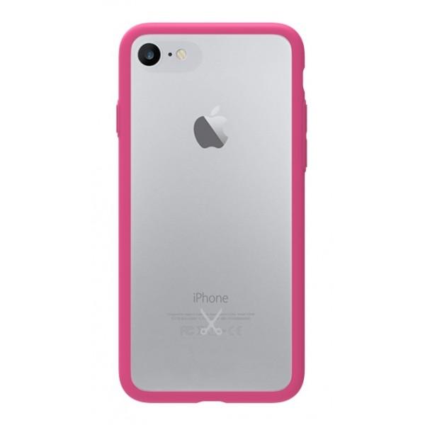 Philo - Cover Protettiva in Gomma Supersottile Antiscivolo per iPhone - Cover Slimbumper - Bumper Cover - Rosa - iPhone 8 / 7