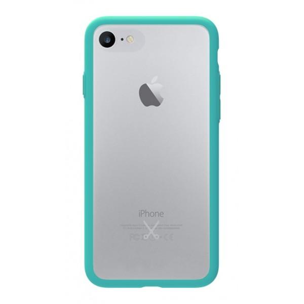 Philo - Cover Protettiva in Gomma Supersottile Antiscivolo per iPhone - Cover Slimbumper - Bumper Cover - Azzurro - iPhone 8 / 7