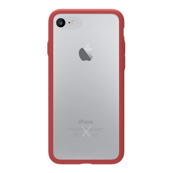 Philo - Cover Protettiva in Gomma Supersottile Antiscivolo per iPhone - Cover Slimbumper - Bumper Cover - Rossa - iPhone 8 / 7