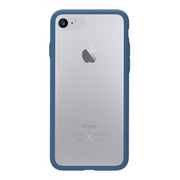 Philo - Cover Protettiva in Gomma Supersottile Antiscivolo per iPhone - Cover Slimbumper - Bumper Cover - Blu - iPhone 8 / 7
