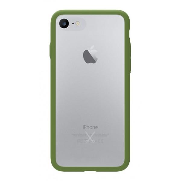 Philo - Cover Protettiva in Gomma Supersottile Antiscivolo iPhone - Slimbumper - Bumper Cover - Verde Militare - iPhone 8 / 7