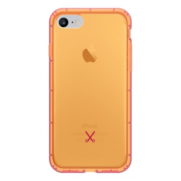 Philo - Cover Airshock Resistente agli Urti per Apple - Cover Airshock - Arancione - iPhone 8 / 7