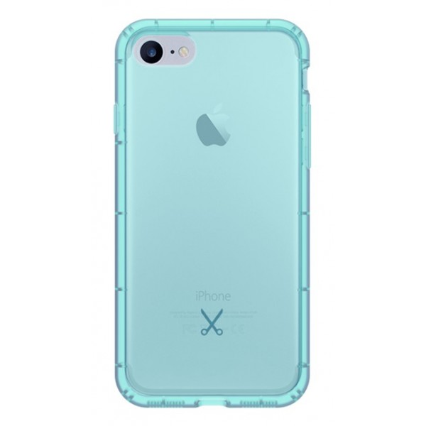 Philo - Cover Airshock Resistente agli Urti per Apple - Cover Airshock - Azzurro - iPhone 8 / 7
