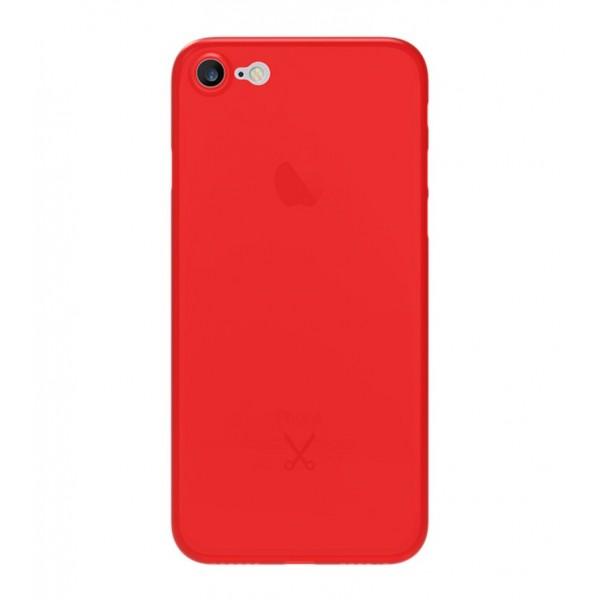Philo - Cover Ultra Slim 0.3 - Cover PP Ultra Sottile (3 mm) Super Leggera - Effetto Traslucido - Rosso - iPhone 8 Plus / 7 Plus