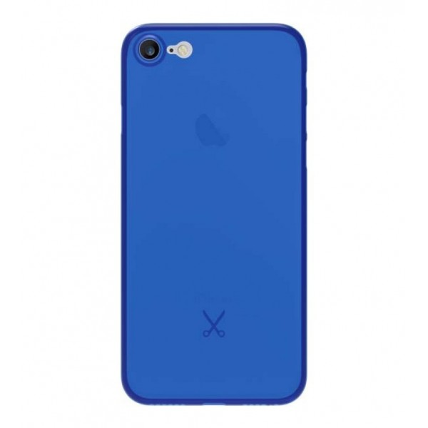 Philo - Cover Ultra Slim 0.3 - Cover PP Ultra Sottile (3 mm) Super Leggera - Effetto Traslucido - Blu - iPhone 8 Plus / 7 Plus