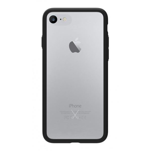 Philo - Cover Protettiva Gomma Supersottile Antiscivolo per iPhone - Slimbumper - Bumper Cover - Nera - iPhone 8 Plus / 7 Plus