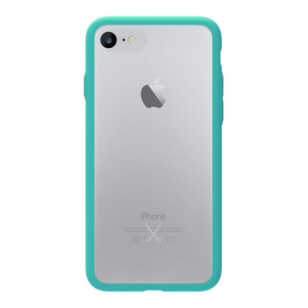 Philo - Cover Protettiva in Gomma Supersottile Antiscivolo iPhone - Slimbumper - Bumper Cover - Azzurro - iPhone 8 Plus / 7 Plus