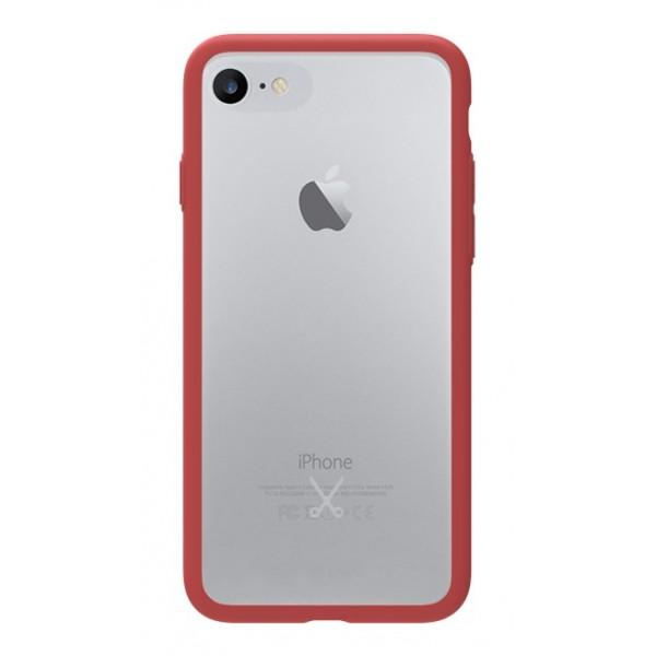 Philo - Cover Protettiva in Gomma Supersottile Antiscivolo iPhone - Slimbumper - Bumper Cover - Rossa - iPhone 8 Plus / 7 Plus