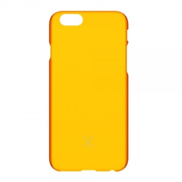Philo - Ultra Slim Thin Case - Ultra Thin and Light Weight PP Case - Translucent Effect Cover - Orange - iPhone 6/6s