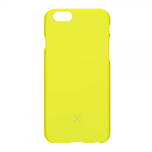 Philo - Cover Ultra Slim - Cover PP Ultra Sottile e Super Leggera - Cover Effetto Traslucido - Giallo - iPhone 6/6s
