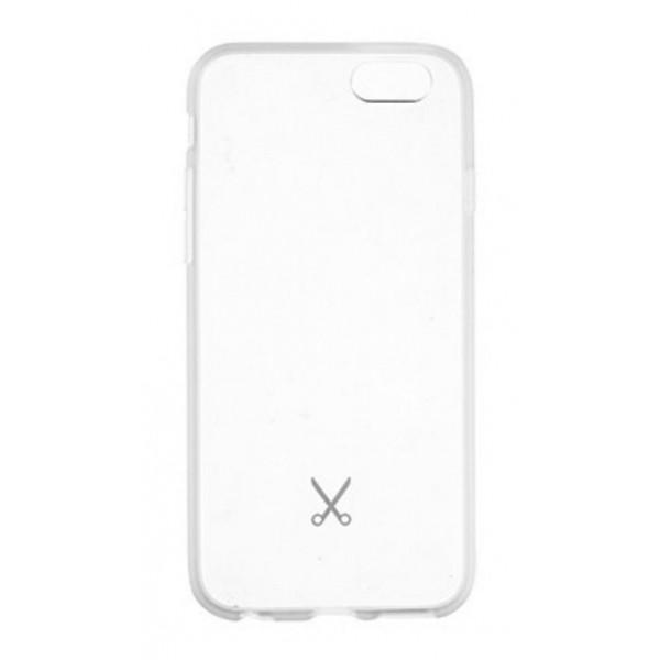 Philo - Cover Protettiva in Gomma Supersottile Antiscivolo per iPhone - Cover Slimbumper - Bumper Cover - Bianco - iPhone 6/6s