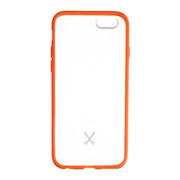 Philo - Cover Protettiva in Gomma Supersottile Antiscivolo per iPhone - Slimbumper - Bumper Cover - Arancione - iPhone 6/6s
