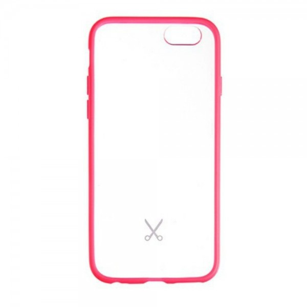 Philo - Cover Protettiva in Gomma Supersottile Antiscivolo per iPhone - Slimbumper - Bumper Cover - Rosa - iPhone 6/6s