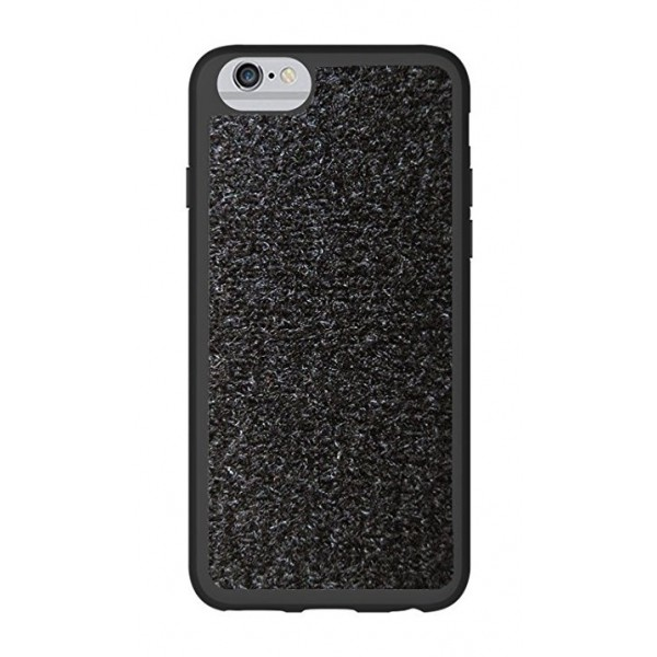 Philo - Patch Case with Set of Velcro Alphabet Pack for iPhone 6/6s - Velcro Patch Cover - Black - iPhone 6/6s