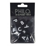 Philo - Extension Pack per Patch Case - Alphabet - Velcro Patch Cover Expansion Pack - Nero - iPhone 6/6s