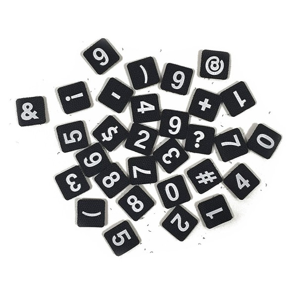 Philo - Extension Pack per Patch Case - Numbers - Velcro Patch Cover Expansion Pack - Nero - iPhone 6/6s