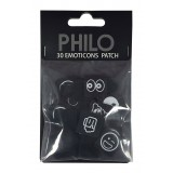 Philo - Extension Pack per Patch Case - Emoji - Velcro Patch Cover Expansion Pack - Nero - iPhone 6/6s