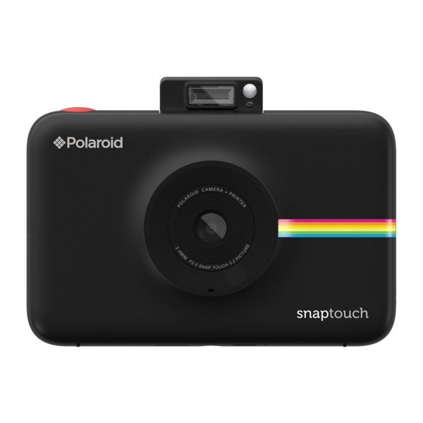 Polaroid - Polaroid Snap Touch Instant Print Digital Camera With LCD Display (Black) with Zink Zero Ink Printing Technology