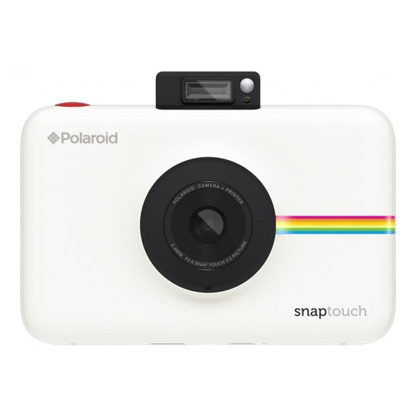 Polaroid - Polaroid Snap Touch Instant Print Digital Camera With LCD Display (White) with Zink Zero Ink Printing Technology