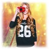 Polaroid - Fotocamera Digitale Snap Touch a Stampa Istantanea con Schermo LCD (Rosso) e Tecnologia di Stampa Zink Zero Ink