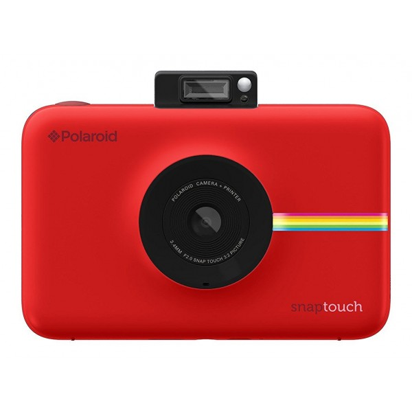 Polaroid - Polaroid Snap Touch Instant Print Digital Camera With LCD Display (Red) with Zink Zero Ink Printing Technology