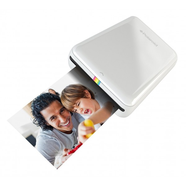 Polaroid - Polaroid ZIP Mobile Printer w/ZINK Zero Ink Printing Technology - Compatible w/iOS & Android Devices - White