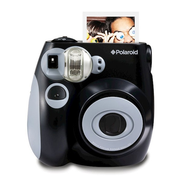 Polaroid - Polaroid PIC-300 Instant Film Camera - Digital Camera with Instant Printing Technology - Black