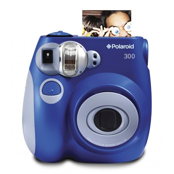 Polaroid - Polaroid PIC-300 Instant Film Camera - Digital Camera with Instant Printing Technology - Blue