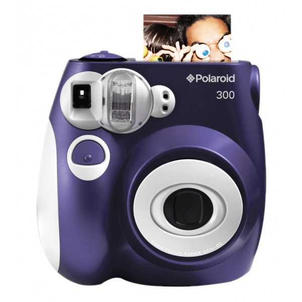 Polaroid - Polaroid PIC-300 Instant Film Camera - Digital Camera with Instant Printing Technology - Purple