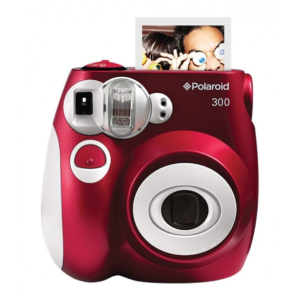 Polaroid - Polaroid PIC-300 Instant Film Camera - Digital Camera with Instant Printing Technology - Red