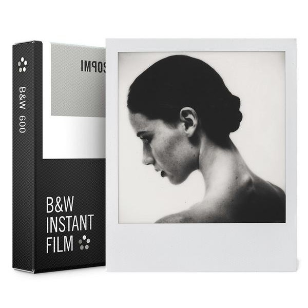 Impossible Polaroid - B & W Film for 600 - White Frame - Film for Polaroid 600 Type and Impossible I-1 - Instant Films