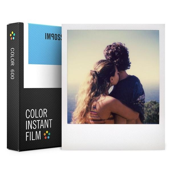 Impossible Polaroid - Color Film per 600 - Frame Bianco - Film per Polaroid 600 Type e Impossible I-1 - Pellicole a Colori