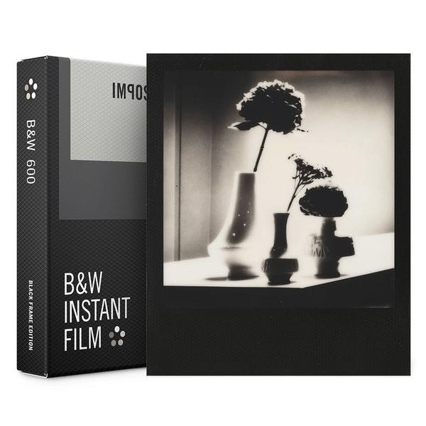 Impossible Polaroid - B & W Film for 600 - Black Frame - Film for Polaroid 600 Type and Impossible I-1 - Instant Films
