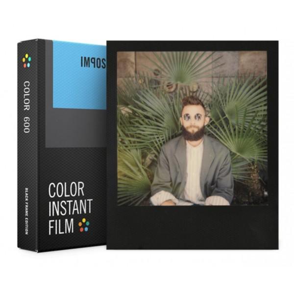 Impossible Polaroid - Color Film per 600 - Frame Nero - Film per Polaroid 600 Type e Impossible I-1 - Pellicole a Colori