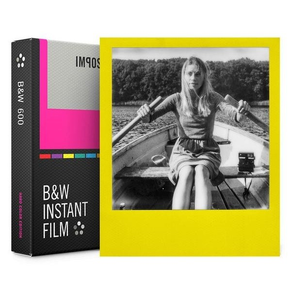 Impossible Polaroid - B & W Film for 600 - Color Frame - Film for Polaroid 600 Type and Impossible I-1 - Instant Films