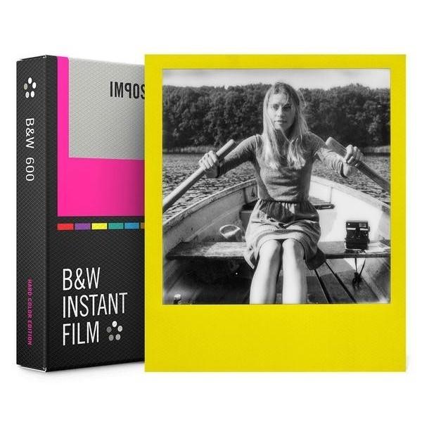 Impossible Polaroid - B & W Film per 600 - Frame Colorato - Film per Polaroid 600 Type e Impossible I-1 - Pellicole Instantanee