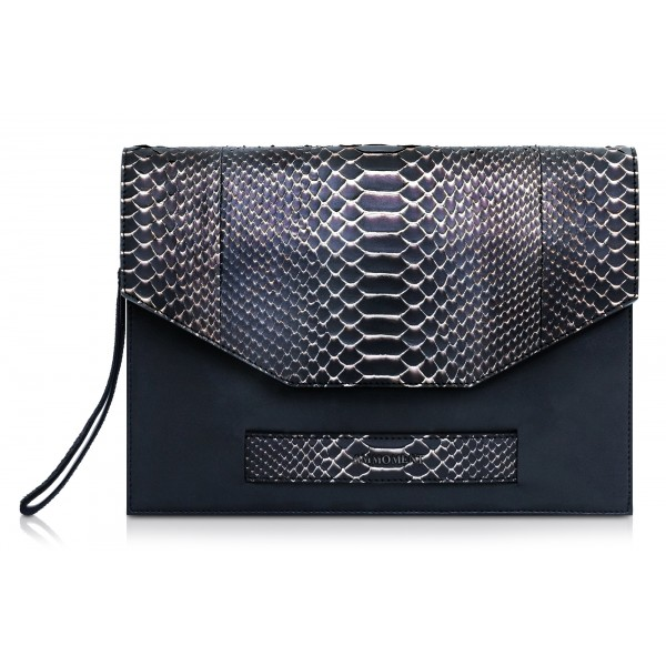 Ammoment - Python in Pepite Rose - Leather Pete Clutch Bag